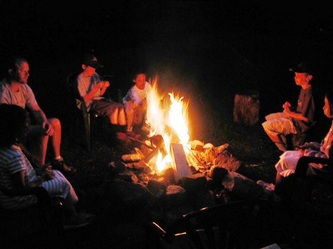 Campfires are great for telling stories and roasting marshmallows