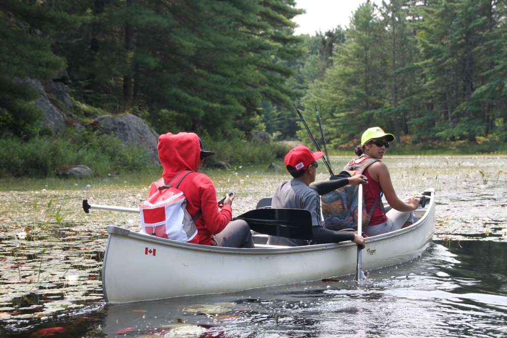 Canoeing on our lake and lakes nearby.