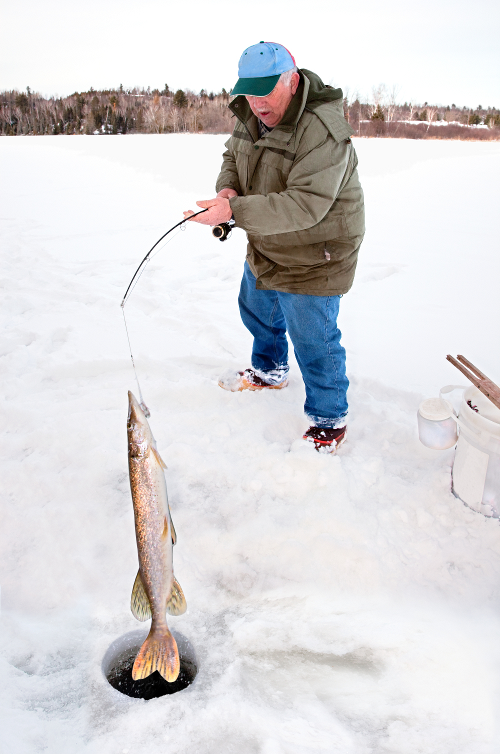Summer activities for Ice fishing poles