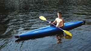 Enjoy kayaking on the Kawigamog lake.